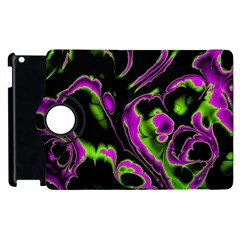 Glowing Fractal B Apple Ipad 3/4 Flip 360 Case by Fractalworld