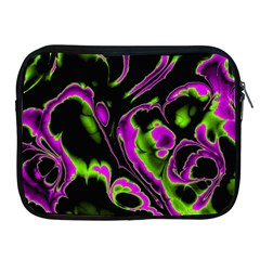 Glowing Fractal B Apple Ipad 2/3/4 Zipper Cases by Fractalworld