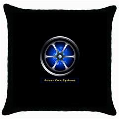 Power Core Throw Pillow Case (black)