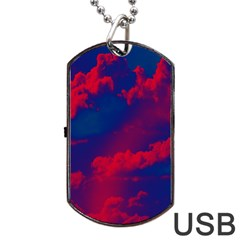 Sky Pattern Dog Tag Usb Flash (two Sides) by Valentinaart