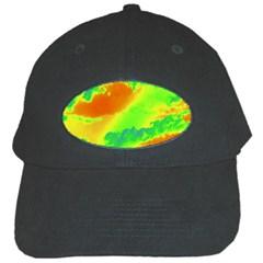 Sky Pattern Black Cap by Valentinaart