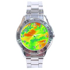 Sky Pattern Stainless Steel Analogue Watch by Valentinaart