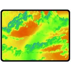 Sky Pattern Double Sided Fleece Blanket (large)  by Valentinaart