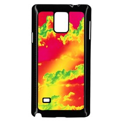 Sky Pattern Samsung Galaxy Note 4 Case (black) by Valentinaart