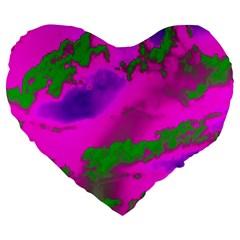 Sky Pattern Large 19  Premium Heart Shape Cushions by Valentinaart