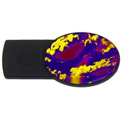 Sky Pattern Usb Flash Drive Oval (4 Gb) by Valentinaart