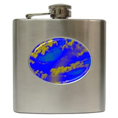 Sky Pattern Hip Flask (6 Oz) by Valentinaart