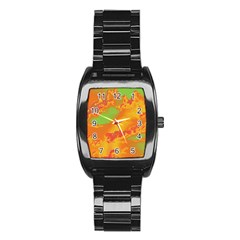 Sky Pattern Stainless Steel Barrel Watch by Valentinaart