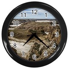 Miradores De Darwin, Santa Cruz Argentina Wall Clocks (black) by dflcprints