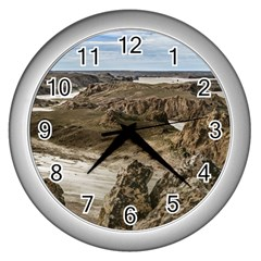 Miradores De Darwin, Santa Cruz Argentina Wall Clocks (silver)  by dflcprints