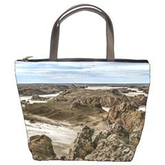 Miradores De Darwin, Santa Cruz Argentina Bucket Bags by dflcprints