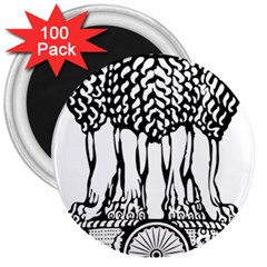 National Emblem Of India  3  Magnets (100 Pack) by abbeyz71