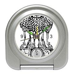 National Emblem Of India  Travel Alarm Clocks by abbeyz71