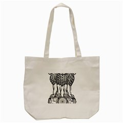 National Emblem Of India  Tote Bag (cream) by abbeyz71