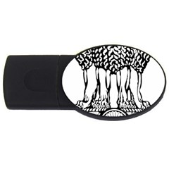 National Emblem Of India  Usb Flash Drive Oval (4 Gb) by abbeyz71