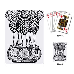 National Emblem Of India  Playing Card by abbeyz71