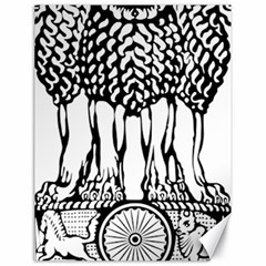 National Emblem Of India  Canvas 18  X 24   by abbeyz71