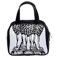 National Emblem Of India  Classic Handbags (2 Sides) by abbeyz71
