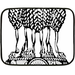 National Emblem Of India  Fleece Blanket (mini) by abbeyz71