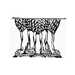 National Emblem Of India  Cosmetic Bag (large)  by abbeyz71
