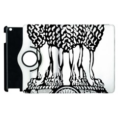National Emblem Of India  Apple Ipad 3/4 Flip 360 Case by abbeyz71