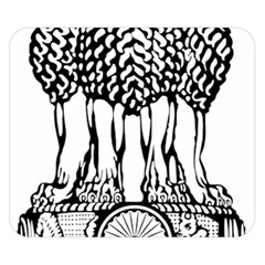 National Emblem Of India  Double Sided Flano Blanket (small)  by abbeyz71