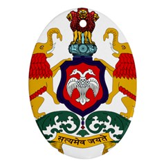 State Seal Of Karnataka Ornament (oval) by abbeyz71