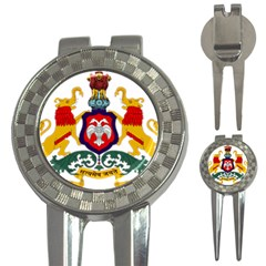 State Seal Of Karnataka 3 In 1 Golf Divots by abbeyz71
