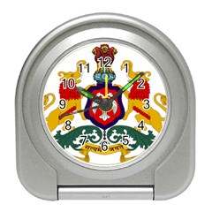 State Seal Of Karnataka Travel Alarm Clocks by abbeyz71