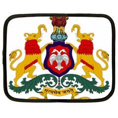 State Seal Of Karnataka Netbook Case (large) by abbeyz71