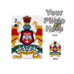 State Seal Of Karnataka Playing Cards 54 (mini)  by abbeyz71