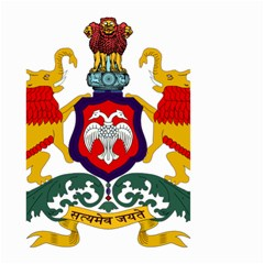 State Seal Of Karnataka Small Garden Flag (two Sides) by abbeyz71