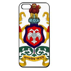 State Seal Of Karnataka Apple Iphone 5 Seamless Case (black) by abbeyz71