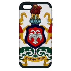 State Seal of Karnataka Apple iPhone 5 Hardshell Case (PC+Silicone)