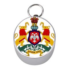 State Seal Of Karnataka Mini Silver Compasses by abbeyz71