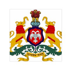 State Seal Of Karnataka Small Satin Scarf (square)