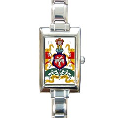 State Seal Of Karnataka Rectangle Italian Charm Watch by abbeyz71