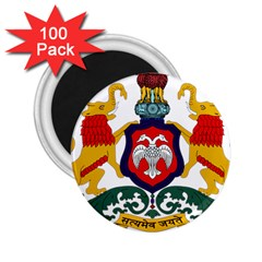 State Seal Of Karnataka 2 25  Magnets (100 Pack)  by abbeyz71
