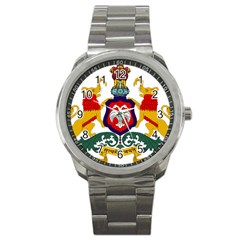 State Seal Of Karnataka Sport Metal Watch by abbeyz71