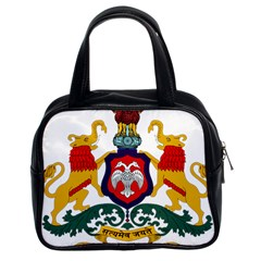 State Seal Of Karnataka Classic Handbags (2 Sides) by abbeyz71