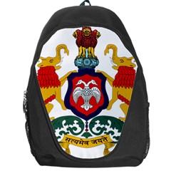State Seal Of Karnataka Backpack Bag by abbeyz71