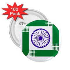 Seal Of Indian State Of Jharkhand 2 25  Buttons (100 Pack)  by abbeyz71