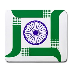 Seal Of Indian State Of Jharkhand Large Mousepads by abbeyz71