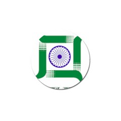 Seal Of Indian State Of Jharkhand Golf Ball Marker by abbeyz71