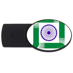 Seal Of Indian State Of Jharkhand Usb Flash Drive Oval (4 Gb) by abbeyz71