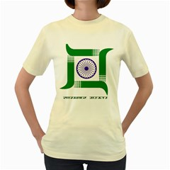 Seal Of Indian State Of Jharkhand Women s Yellow T Shirt by abbeyz71