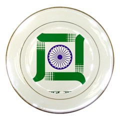 Seal Of Indian State Of Jharkhand Porcelain Plates by abbeyz71