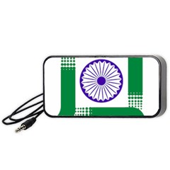 Seal Of Indian State Of Jharkhand Portable Speaker (black) by abbeyz71