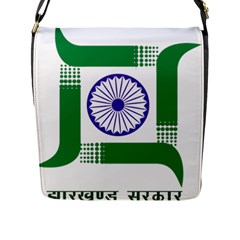 Seal Of Indian State Of Jharkhand Flap Messenger Bag (l)  by abbeyz71
