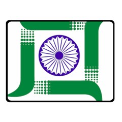 Seal Of Indian State Of Jharkhand Double Sided Fleece Blanket (small)  by abbeyz71